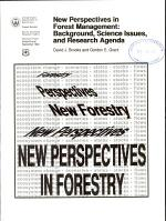New Perspectives in Forest Management