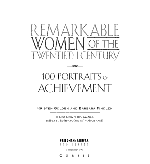 Remarkable Women of the Twentieth Century PDF
