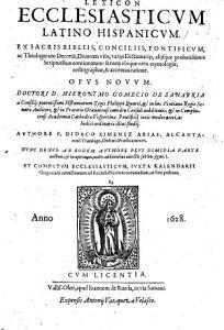 Lexicon ecclesiasticum Latino Hispanicum     opus novum     denuo     plus dimidia parte auctum  etc PDF