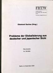Probleme Der Globalisierung Aus Deutscher Und Japanischer Sicht