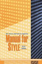 Air Force Jornal of Logistics Manual For Style