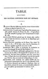 La république de Cicéron: Volume2