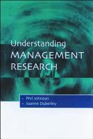 Understanding Management Research PDF