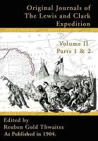 Original Journals of the Lewis and Clark Expedition  1804 1806 Part 1 and 2 Volume 2 PDF
