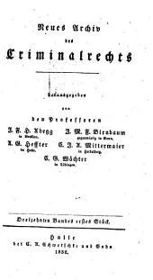 Neues Archiv des Criminalrechts: Band 13