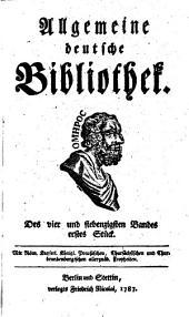 Allgemeine deutsche Bibliothek: Band 74
