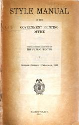 Style Manual of the Government Printing Office PDF