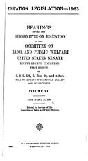Education Legislation  1963  Hearings   88 1 PDF