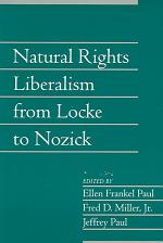 Natural Rights Liberalism from Locke to Nozick: Volume 22, Part 1