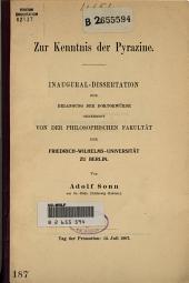 Zur Kenntnis der Pyrazine