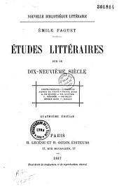 Dix-neuvième siècle: études littéraires