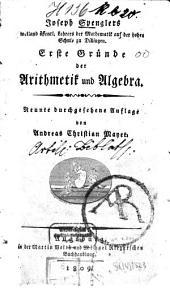 Joseph Spenglers ... erste Gründe der Arithmetik und Algebra