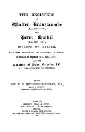 Episcopal Registers: Volume 1