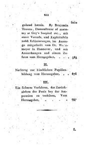 Neue Bibliothek für die Chirurgie und Ophthalmologie: Band 1