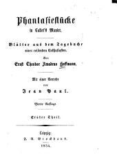 Phantasiestücke in Callots Manier: Blätter aus dem Tagebuche eines reisenden Enthusiasten, Teil 1