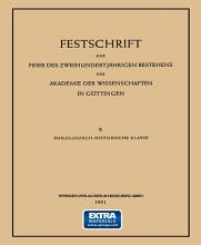 Festschrift zur Feier des Zweihundertj  hrigen Bestehens der Akademie der Wissenschaften in G  ttingen PDF