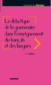 La didactique de la grammaire dans l'enseignement du français et des langues - Ebook