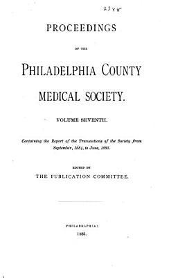 Proceedings of the Philadelphia County Medical Society      PDF