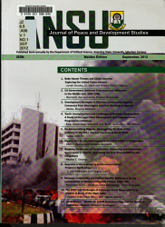 Ansu Journal Of Peace And Development Studies Book PDF