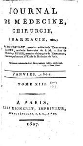 Journal de médecine, chirurgie, pharmacie, etc: Volumes 13 à 14