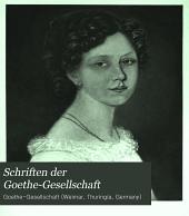 Schriften der Goethe-Gesellschaft: Band 15