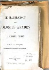 Le Hadhramout et les colonies arabes dans l'archipel Indien