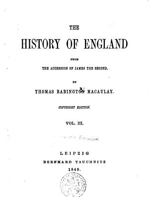 The History of England from the Accession of James the Second PDF