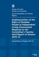 Implementation of the right of disabled people to independent living PDF