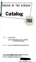 Bureau of the Census Catalog PDF