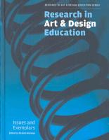 Research in Art   Design Education PDF