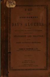 Key to the Abridgment of Day's Algebra