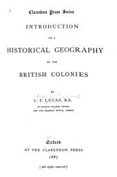 Introduction to a Historical Geography of the British Colonies