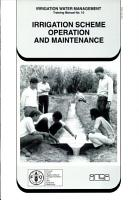 Irrigation Scheme Operation and Maintenance PDF