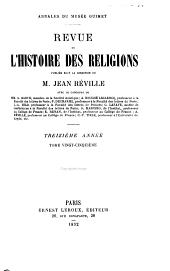 Revue de l'histoire des religions: Volume13;Volumes25à26