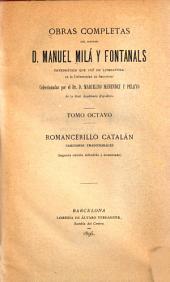 Obras completas del doctor D. Manuel Milá y Fontanals: Romancerillo catalán