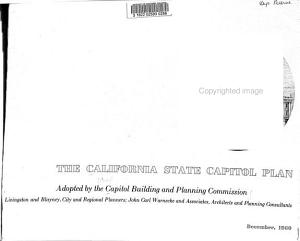 The California State Capitol Plan Adopted by the Capitol Building and Planning Commission