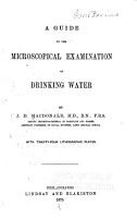 A Guide to the Microscopical Examination of Drinking Water PDF