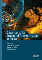 Governance for Structural Transformation in Africa PDF
