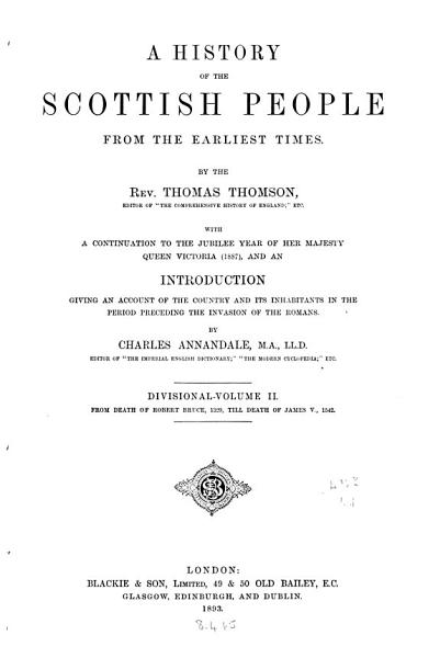 A History of the Scottish People from the Earliest Times PDF