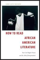 How to Read African American Literature PDF