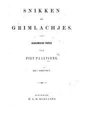 Snikken en Grimlachjes. Academische poëzie, met portret