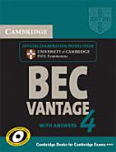 Cambridge BEC  Student s Book with Answers Vantage 4 PDF