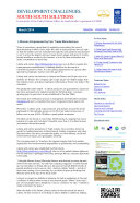 Development Challenges, South-South Solutions: March 2014 Issue