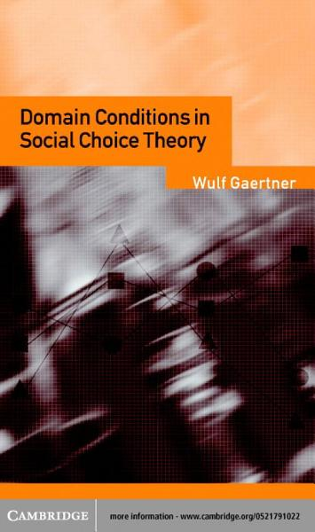 Domain Conditions in Social Choice Theory PDF