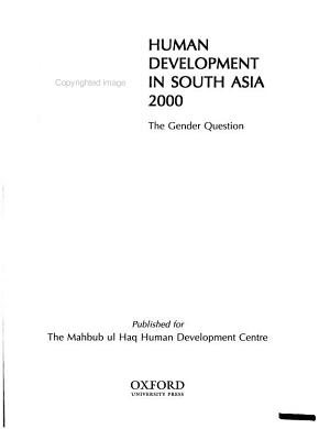 Human Development in South Asia 2000