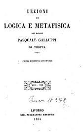 Lezioni di logica e metafisica: 3