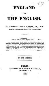England and the English, etc