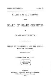 Annual report of the Board of State Charities of Massachusetts: Volume 6