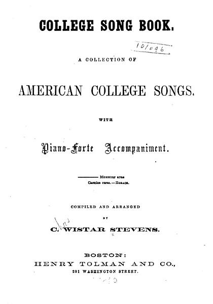 College Song Book PDF