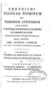 Phrynichi ecologae nominum et verborum Atticorum